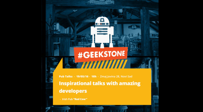Geekstone Pub Talks + Radionica Crafting Code